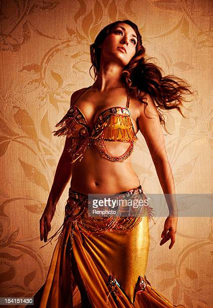 gorgeous belly dancer - belly dancing stock photos and pictures