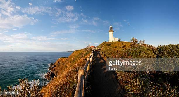 Gorgeous coastal landscape of Byron Bay lighthouse