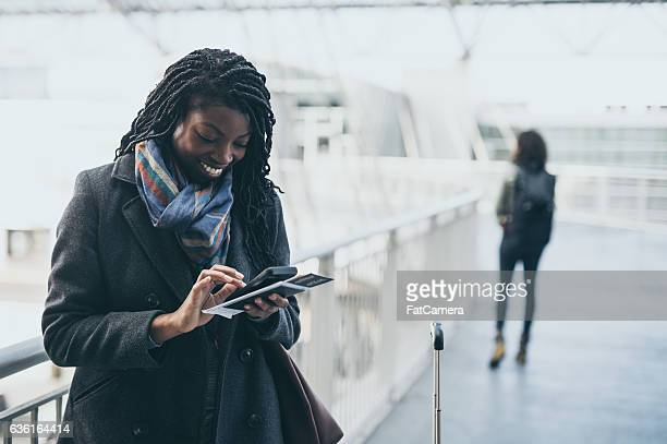 Gorgeous ethnic young adult female traveling