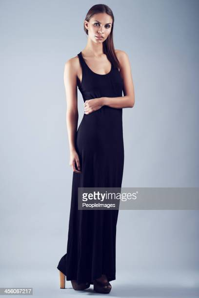 gorgeous in evening wear - evening gown stock photos and pictures