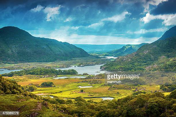 gorgeous landscape in ireland - ring of kerry stock photos and pictures