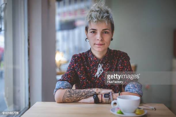 gorgeous modern woman - punk person stock pictures, royalty-free photos & images