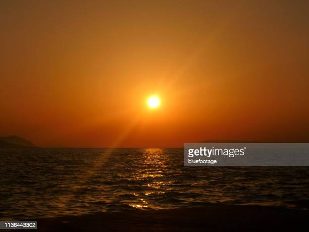 gorgeous sunset in croatia - bluefootage stock pictures, royalty-free photos & images