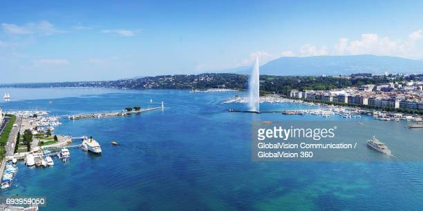 Gorgeous View of Summertime in Geneva, Switzerland