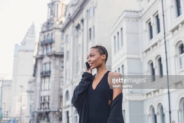 Gorgeous woman talking on the phone