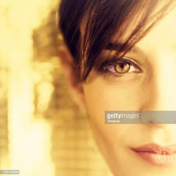Schöne Frau Gesicht portrait.