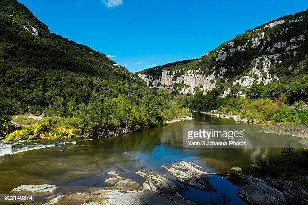 gorges de l herault,the national park of cevennes, languedoc roussillon, france - herault stock pictures, royalty-free photos & images