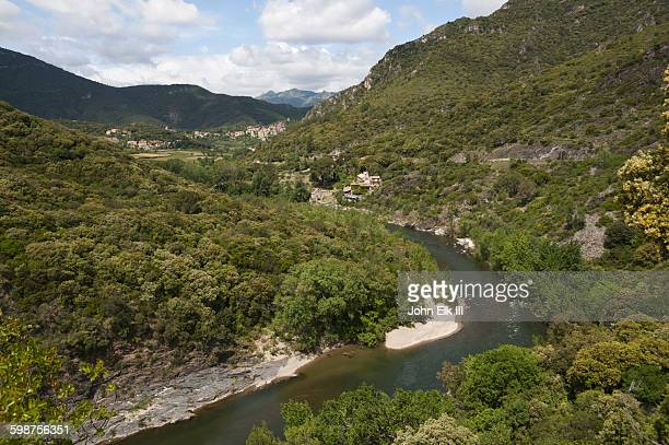 gorges d'heric, landscape - herault stock pictures, royalty-free photos & images