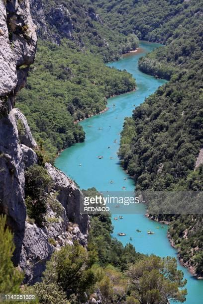 Gorges du Verdon river. Provence-Alpes-C™te d'Azur region. Provence. France. Europe.
