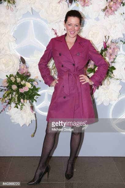 Gorgi Coghlan poses ahead of the Dior lunch at NGV International on August 29 2017 in Melbourne Australia
