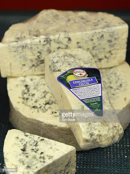 Gorgonzola cheese is displayed at the Home Economist store July 20 2004 in Skokie Illinois Kraft Foods North America's largest food maker posted a...