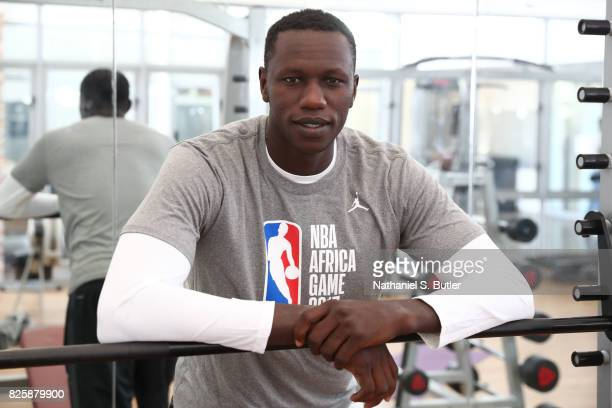 Gorgui Dieng of Team Africa poses for a portrait as part of the Basketball Without Boarders Africa at the American International School of...