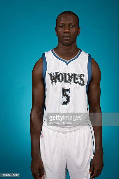 Gorgui Dieng of the Minnesota Timberwolves pose for portraits during 2015 Media Day on September 28 2015 at Target Center in Minneapolis Minnesota...