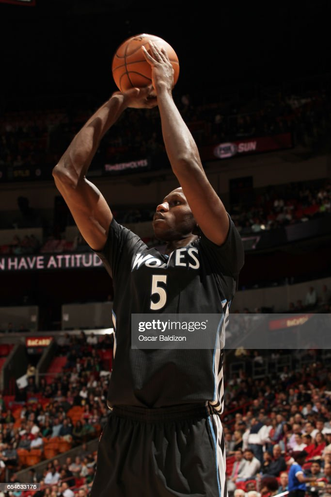 b35178f194 Gorgui Dieng of the Minnesota Timberwolves shoots the ball against ...