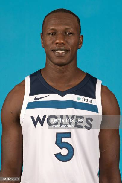 Gorgui Dieng poses for a portrait during 2017 Media Day on September 22 2017 at the Minnesota Timberwolves and Lynx Courts at Mayo Clinic Square in...