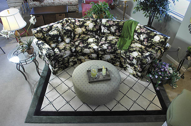 At Crockett Interiors In Gorham A Conversation Sofa And Odd Shaped