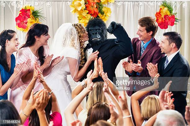gorilla wedding - monkey suit stock pictures, royalty-free photos & images