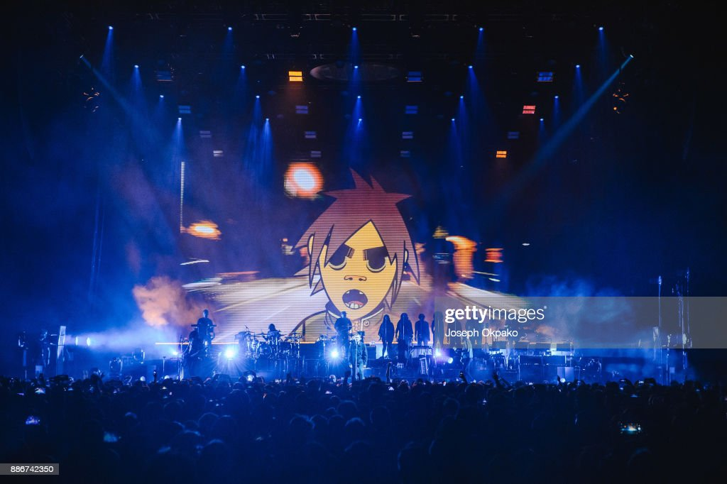 Gorillaz Performs at The O2 Arena