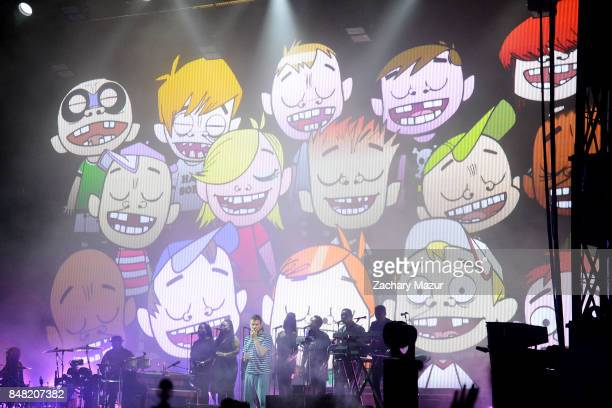 Gorillaz perform onstage during day 2 of The Meadows Music Arts Festival at Citi Field on September 16th 2017 in New York City