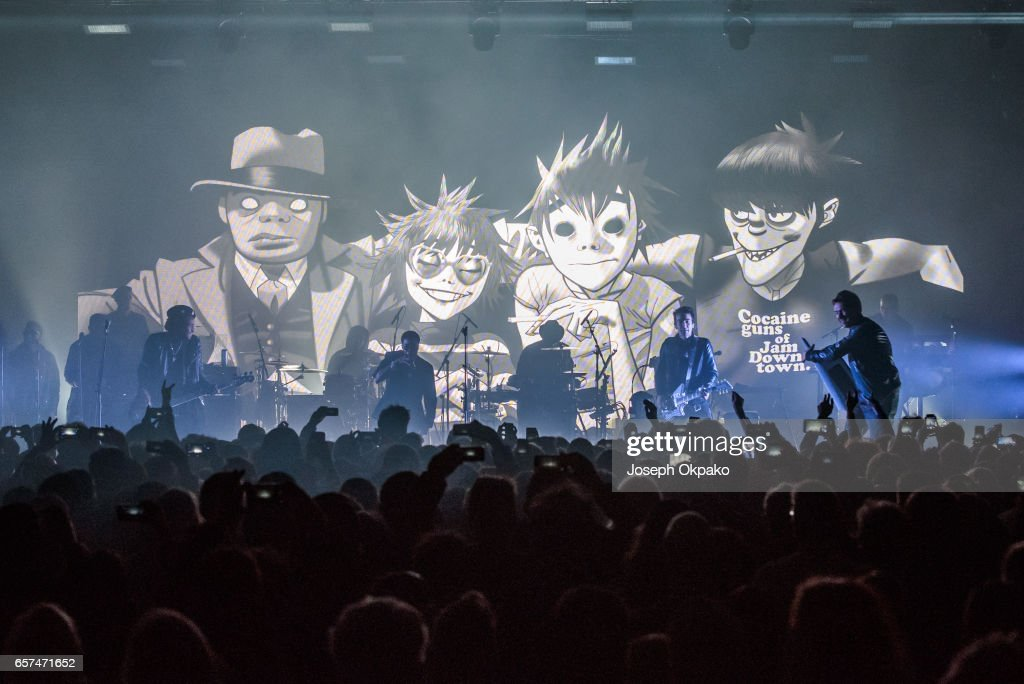 Gorillaz Perform New Album Live At A Secret London Location : News Photo