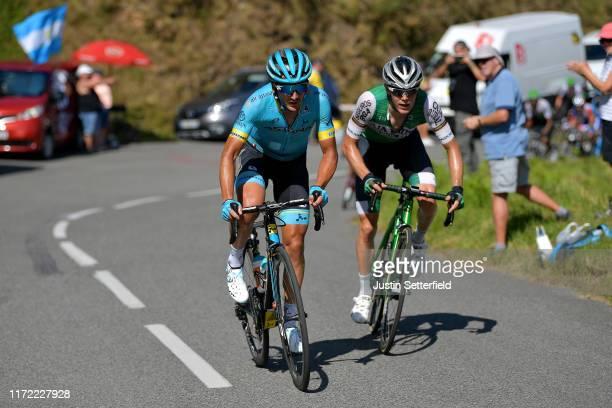 Gorka Izagirre Insausti of Spain and Astana Pro Team / Alexander Aranburu Deba of Spain and Team Caja RuralSeguros RGA / Public / Fans / during the...