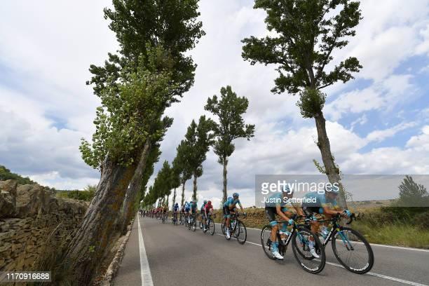 Gorka Izagirre Insausti of Spain and Astana Pro Team / Dario Cataldo of Italy and Astana Pro Team / Luis León Sánchez of Spain and Astana Pro Team /...