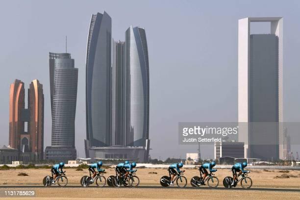 Gorka Izagirre Insausti of Spain and Astana Pro Team / Manuele Boaro of Italy and Astana Pro Team / Daniil Fominykh of Kazakhstan and Astana Pro Team...