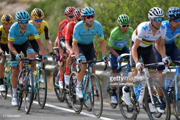 Gorka Izagirre Insausti of Spain and Astana Pro Team / Manuele Boaro of Italy and Astana Pro Team / Nairo Quintana of Colombia and Movistar Team...