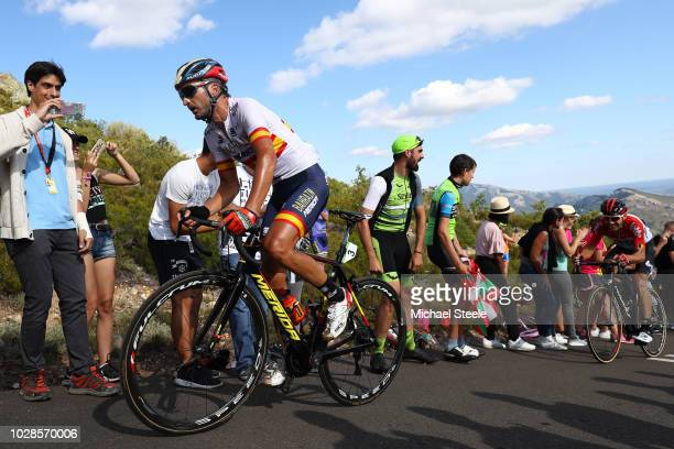Gorka Izagirre of Spain and Bahrain Merida Pro Cycling Team / Alto de la Camperona / Fans / Public / during the 73rd Tour of Spain 2018 Stage 13 a...