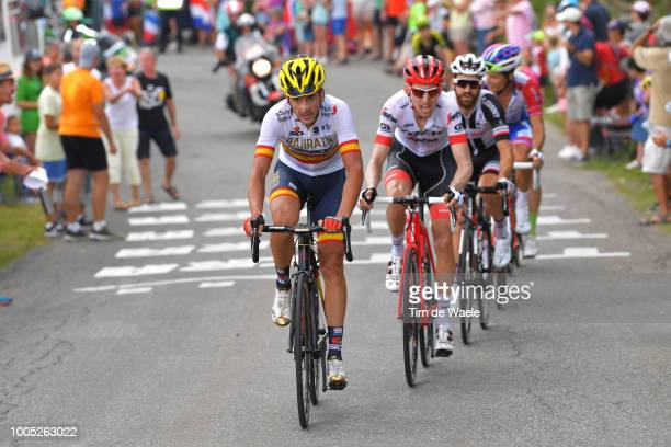 Gorka Izagirre of Spain and Bahrain Merida Pro Team / Bauke Mollema of The Netherlands and Team Trek Segafredo / during the 105th Tour de France 2018...