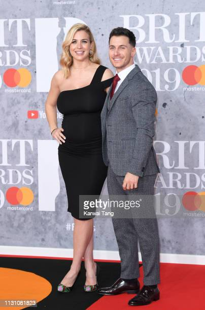 Gorka Marquez and Gemma Atkinson attends The BRIT Awards 2019 held at The O2 Arena on February 20 2019 in London England