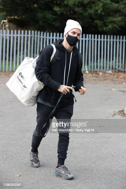 Gorka Marquez from Strictly Come Dancing 2020 seen arriving at a rehearsal studio on November 18, 2020 in London, England.