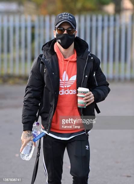 Gorka Marquez seen arriving for Strictly Come Dancing 2020 rehearsals on November 26, 2020 in London, England.