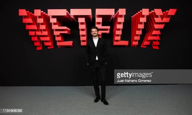 Gorka Ochoa attends the red carpet during the Netflix presentation party at the Invernadero del Palacio de Cristal de la Arganzuela on April 4 2019...
