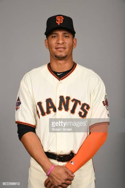 Gorkys Hernandez of the San Francisco Giants poses during Photo Day on Tuesday February 20 2018 at Scottsdale Stadium in Scottsdale Arizona