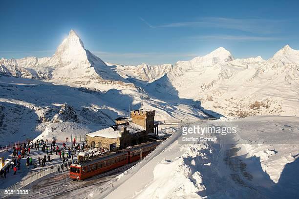Gornergrat Station Switzerland Matterhorn