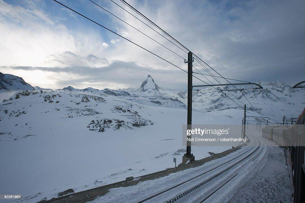Gornergrat train, Zermatt, Switzerland, Europe : Stock Photo