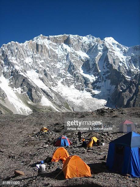Goro II campsite in Baltoro glacier