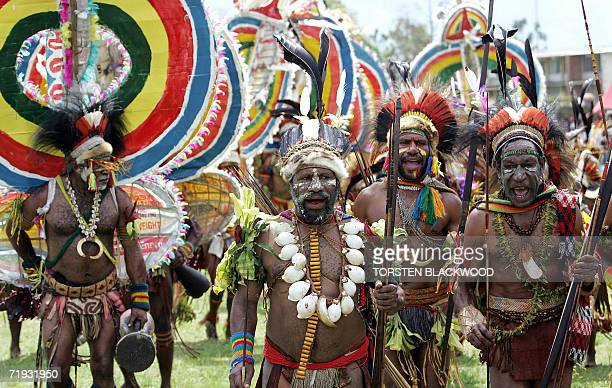 Rainbow Gahisi warriors perform during the 50th Goroka singsing in what is believed to be the largest gathering of indigenous tribes in the world 17...