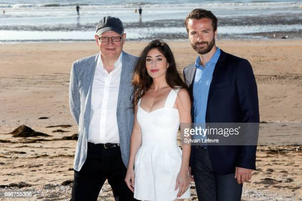 Gorune Aprikian Fanny Valette Amaury De Crayencour attend 'Passade' photocall during 3rd day of the 31st Cabourg Film Festival on June 16 2017 in...