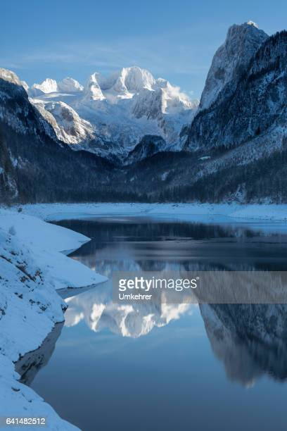 gosausee in winter - alpes maritimes stock pictures, royalty-free photos & images