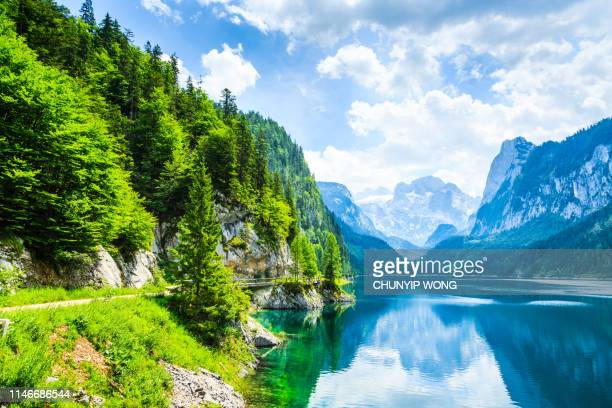 gosausee with dachstein view - european alps - austria stock pictures, royalty-free photos & images