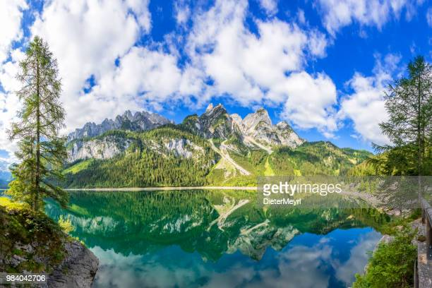 gosausee with dachstein view - european alps - salzburger land stock pictures, royalty-free photos & images