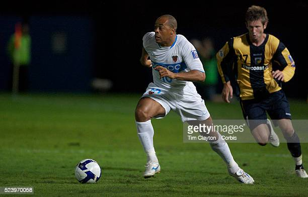 Denilson in action during the group H group stage match between the Central Coast Mariners of Australia and Pohang Steelers of Korea in Gosford...
