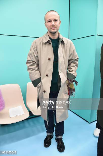 Gosha Rubchinskiy attends the Gucci show during Milan Fashion Week Fall/Winter 2018/19 on February 21 2018 in Milan Italy
