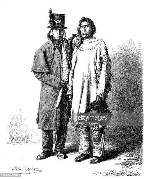 Goshute Indianer, Stamm der Schoschonen, USA / Goships, Goshutes are a tribe of Western Shoshone Native Americans, Digitale Reproduktion von einer...