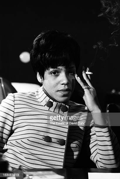 Gospel and soul singer Carolyn Franklin poses for a portrait in December 1967 at the Atlantic Records studio during a recording session for Aretha...