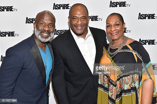 "Gospel artist Bebe Winans, actor Gregory Alan Williams, and actress DeEtta West attend ASPiRE Premiere Screening of ""Magic in the Making"" on March..."