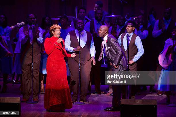 Gospel Artist Dorinda Clark Cole and Ricky Dillard perform at the Gospel Music Heritage Month Foundation 7th Annual Evolution Of Gospel Celebration...