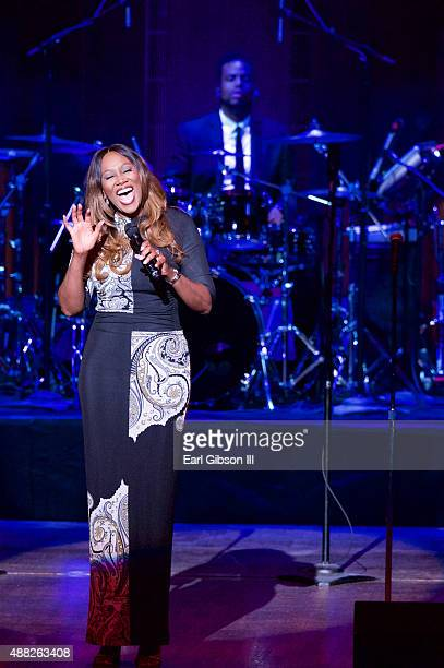 Gospel Artist Yolanda Adams performs at Kennedy Center Hall of States on September 14 2015 in Washington DC